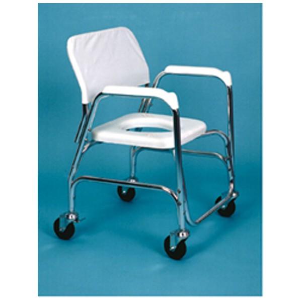 Silla para ducha y w c de aluminio ortop dia avis for Sillas wc para enfermos